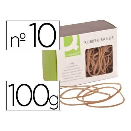 Gomillas elasticas Q-connect 100 gr numero 10