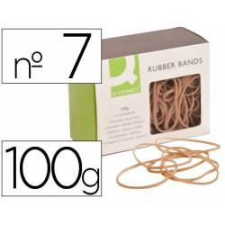 Gomillas elasticas Q-connect 100 gr numero 7