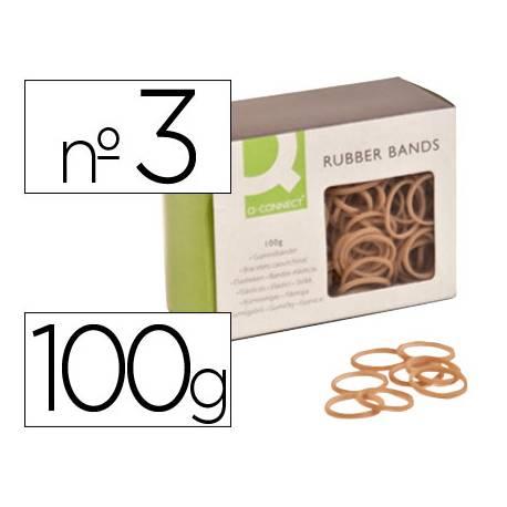 Gomillas elasticas Q-connect 100 gr numero 3
