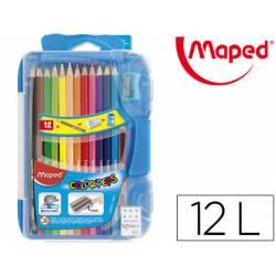 Lapices de colores Maped redondos con 12 unidades