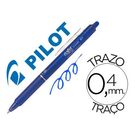 Boligrafo Borrable Pilot Frixion retractil 0,4 mm Color Azul