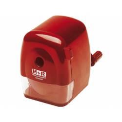 Sacapuntas sobremesa M+R manual color rojo