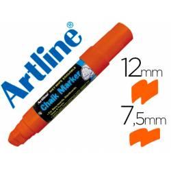 Rotulador Artline EPW-12 Marcador tipo tiza naranja