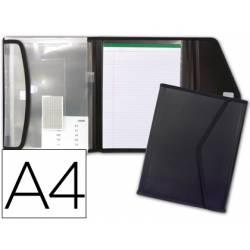 Portadocumentos Carpeta Beautone Negro Velcro A4