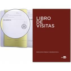 Libro Registro de visitas castellano y tamaño Din A4