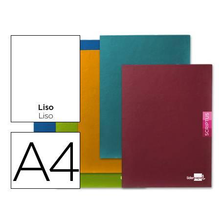 Libreta escolar Liderpapel Scriptus liso tamaño DIN A4