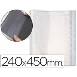 Forralibro PP ajustable adhesivo Medida 240 x 450 mm.