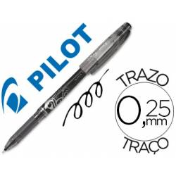 Boligrafo Borrable Pilot Frixion 0,25 mm Punta de aguja Color Negro
