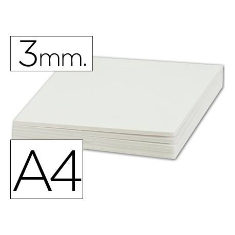 Carton pluma Liderpapel doble cara blanco Din A4
