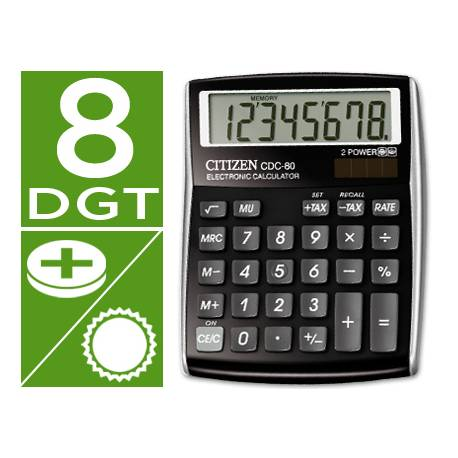 Calculadora sobremesa Citizen CDC-80 color negra