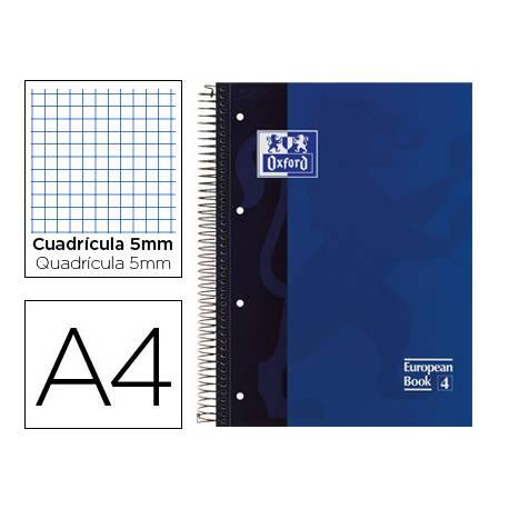 Bloc espiral Oxford Din A-4 extradura microperforado azul