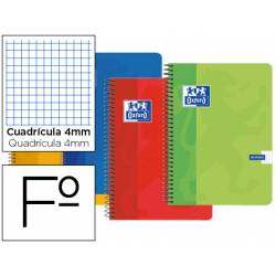 Bloc espiral Oxford cartoncillo folio cuadricula 4mm