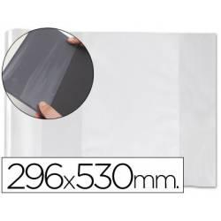 Forralibro PVC con solapa ajustable adhesivo Medida 296 X 530 mm.