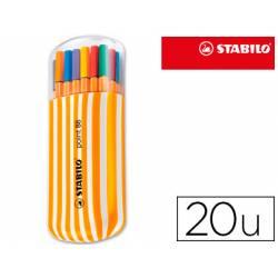 Rotuladores Stabilo point 88 Estuche 20 unidades