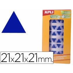 Gomets Apli triangulares Azules 21x21x21mm