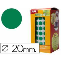 Gomets Apli circulares verdes 20mm