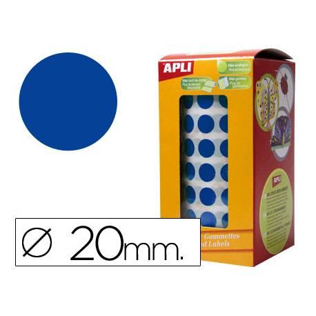Gomets Apli circulares azules 20mm