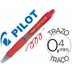 BOLIGRAFO PILOT SUPER GRIP PIXIE MINI ROJO TINTA BASE DE ACEITE PUNTA DE BOLA DE 1,0MM RETRACTIL