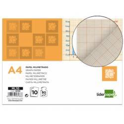Papel milimetrado Liderpapel Din A4