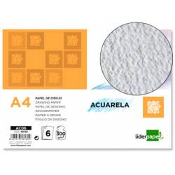 Papel acuarela Liderpapel Din A4 300 g/m2