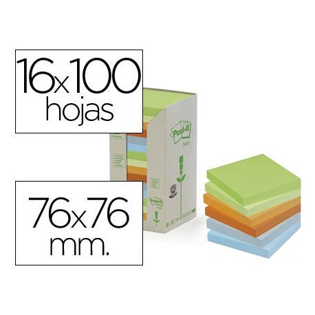 Bloc quita y pon recicladas Linea Verde Post-it ®