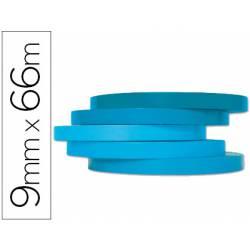 Cinta precintadora Q-Connect 66mx9mm azul adhesiva