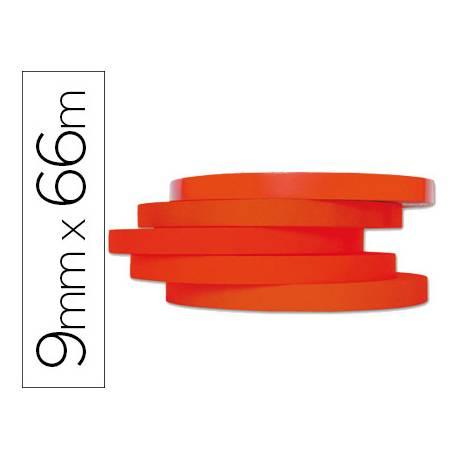 Cinta precintadora Q-Connect 66mx9mm roja es cinta adhesiva