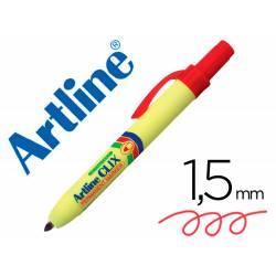 Rotulador Permanente Artline Clix rojo 1,5mm