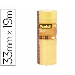 Cinta adhesiva Scotch 508 acordeon paquete de 8 rollos