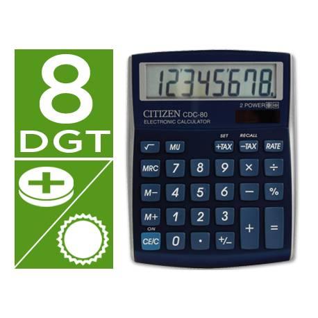 Calculadora sobremesa Citizen CDC-80 8 digitos