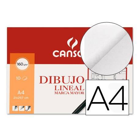Papel dibujo Canson 160 g/m2 Din a4 lamina lisa
