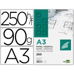 Papel vegetal Liderpapel din a3 gramaje 90g/m2