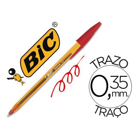 Boligrafo Bic Cristal Naranja color rojo 0,30 mm