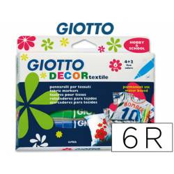 Rotuladores Decor textil Giotto Punta Gruesa Caja 6 unidades