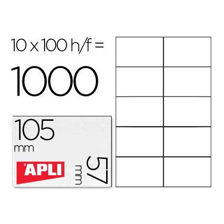 Etiquetas Adhesivas Apli 105 x 57 mm