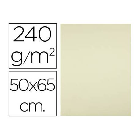 Cartulina Liderpapel color amarillo palido 240 g/m2