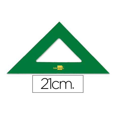Escuadra acrilica marca Liderpapel 21 cm