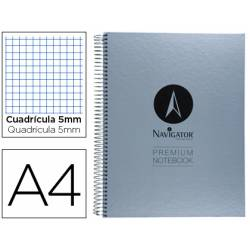 Bloc Din A4 espiral Microperforado serie Premium Navigator