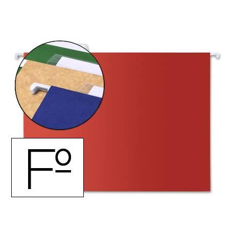 Carpeta colgante Liderpapel Folio Kraft rojo