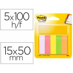 Post-it ® Bloc quita y pon neon 15 x 50 mm