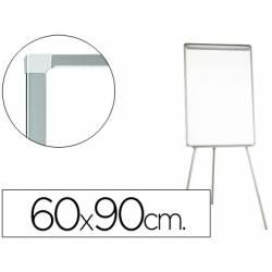 Pizarra Q-Connect trípode marco gris 90x60 cm