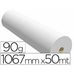 Papel reprografia Plotter 90 g/m2, 1067 mm x 50 m.