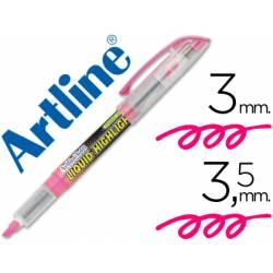 Rotulador Artline EK-640 Fluorescente Rosa Punta biselada