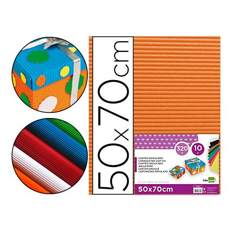 Carton ondulado Liderpapel naranja