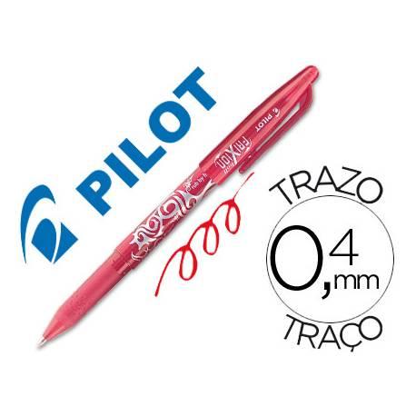 Boligrafo Borrable roller Pilot Frixion 0,4 mm Color Rojo