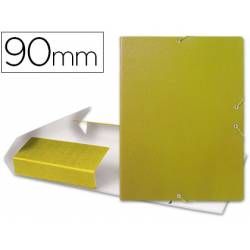 Carpeta de proyectos Liderpapel de carton gomas amarillo 9 cm