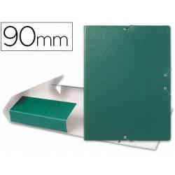 Carpeta de proyectos Liderpapel de carton gomas verde 9 cm