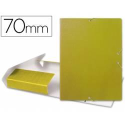 Carpeta de proyectos Liderpapel carton con gomas amarillo 7cm