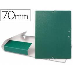 Carpeta de proyectos Liderpapel carton con gomas verde 7cm