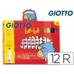 Rotulador Giotto Super Be-be punta gruesa lavable caja de 12 unidades